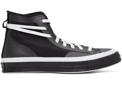 Converse White & Black Mesh All Star Chuck 70 Sneakers