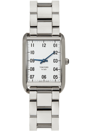 TOM FORD Silver & White Stainless Steel 001 Watch