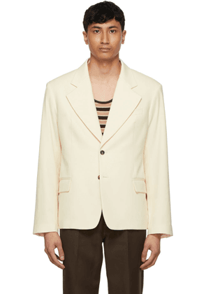 Second/Layer Off-White Single-Breasted Blazer
