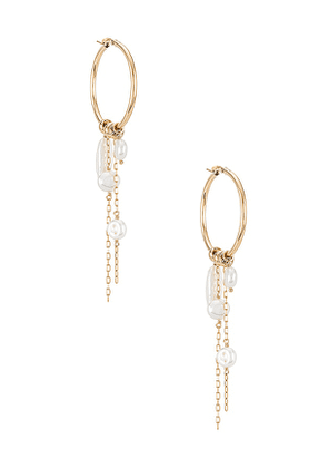 Child of Wild Nymph Pearl Earrings in Metallic Gold.