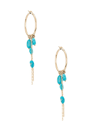 Child of Wild Nymph Turquoise Earrings in Turquoise.