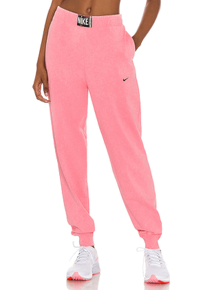 Nike NSW Wash Pant in Pink. Size L.