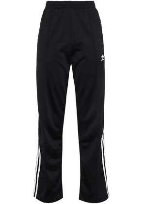 Adidas Originals Striped Tech-jersey Track Pants Woman Black Size 30