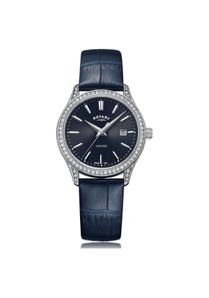 Rotary Watches Oxford Blue Stainless Steel Quartz Watch