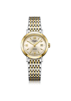 Rotary Watches Two Tone Gold Windsor Ladies Watch With Champagne Dial