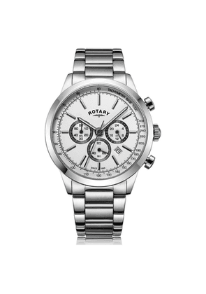 Rotary Watches Cambridge Silver White Stainless Steel