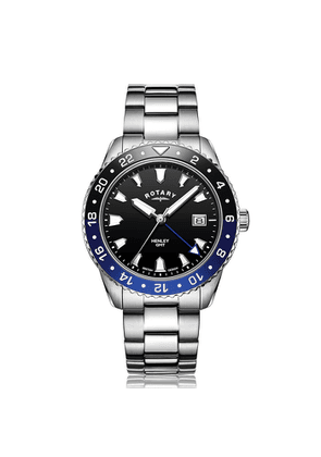 Rotary Watches Rotary Henley Stainless Steel Black Dial Watch