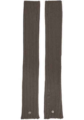 Rick Owens Grey Wool Arm Warmers