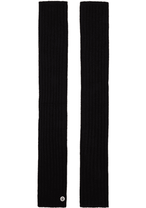 Rick Owens Black New Wool Arm Warmers