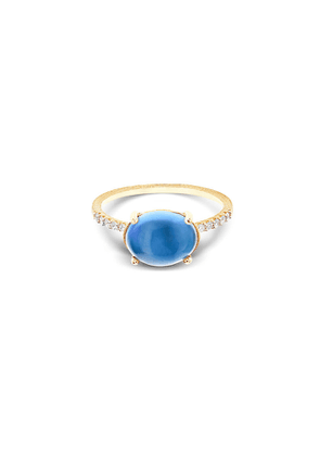 Mozafarian Blue Topaz Ring
