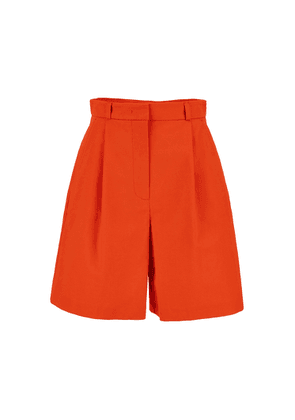 Weekend Max Mara Cotton And Linen Twill Shorts