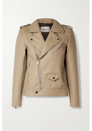 Deadwood - River Desserto Cactus Leather Biker Jacket - Beige