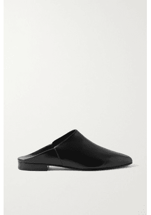 Co - Leather Mules - Black