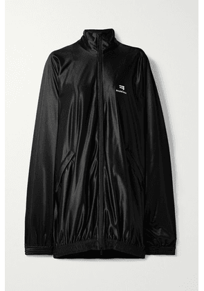 Balenciaga - Oversized Satin-twill Track Jacket - Black