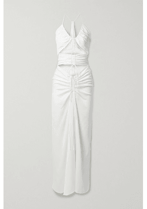 Christopher Esber - Ruched Cutout Stretch-jersey Maxi Dress - White