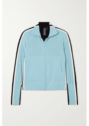 Norma Kamali - Color-block Stretch-jersey Track Jacket - Light blue