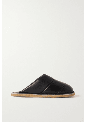 Dries Van Noten - Quilted Leather Slippers - Black