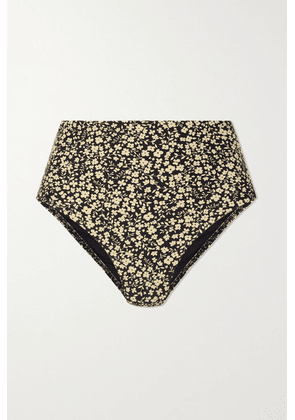 Matteau - + Net Sustain The High Waist Floral-print Stretch-econyl Bikini Briefs - Yellow
