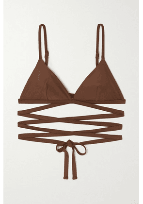 Matteau - + Net Sustain Wrap Triangle Bikini Top - Brown