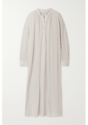 Frances de Lourdes - Aarons Cotton And Cashmere-blend Maxi Dress - Beige