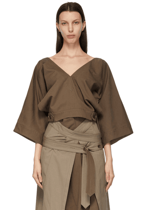 Lemaire Brown Verause Blouse