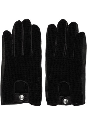 Ernest W. Baker Black Crochet Gloves