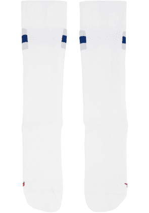 On White 'Clubhouse' Cotton Socks
