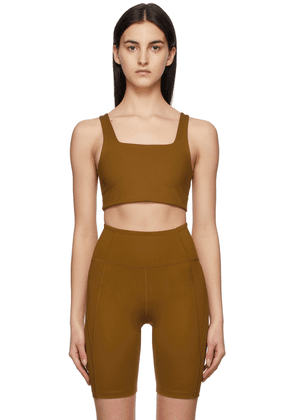 Girlfriend Collective Tan Tommy Sports Bra