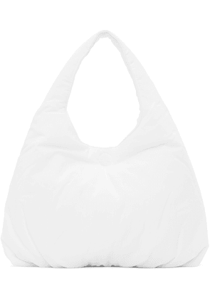AMOMENTO White Small Padded Tote