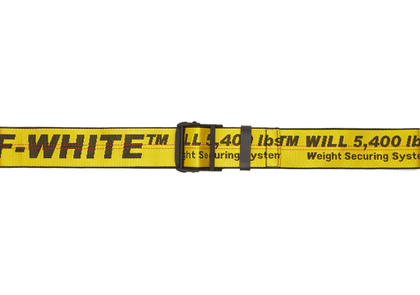 Off-White Yellow Cabin Luggage Belt