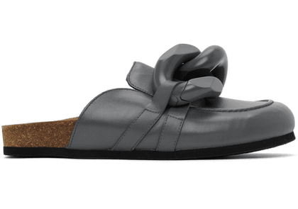 JW Anderson Grey Chain Loafer Mules