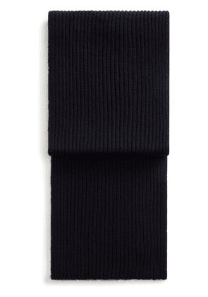 Dolce & Gabbana ribbed knitted long scarf - Blue