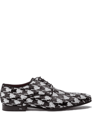 Dolce & Gabbana sequin-embroidered Derby shoes - Black