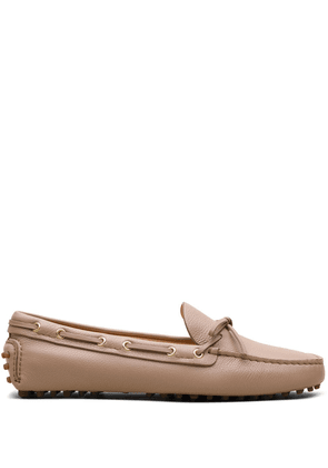 Car Shoe bow-embellished driving loafers - Neutrals