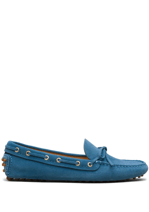 Car Shoe bow-embellished driving loafers - Blue