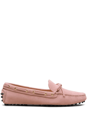 Car Shoe bow-embellished driving loafers - Pink
