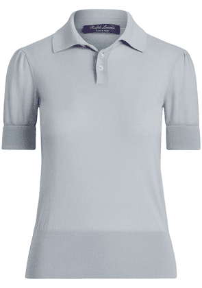 Ralph Lauren Collection ribbed-detail polo top - Blue