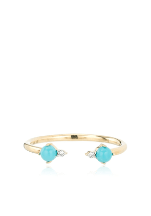 Adina Reyter 14kt yellow gold turquoise open ring