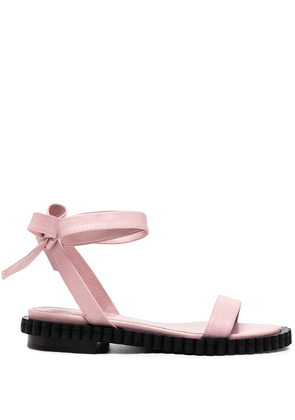 Coliac bow-detail leather sandals - Pink