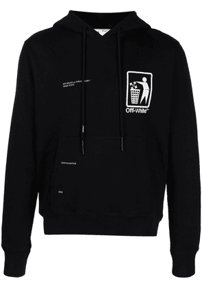 Off-White graphic-print hoodie - Black