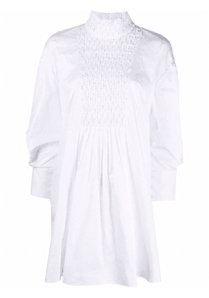CAMILLA AND MARC smocked-panel shift dress - White