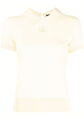 Hilfiger Collection Scalloped Polo - Yellow