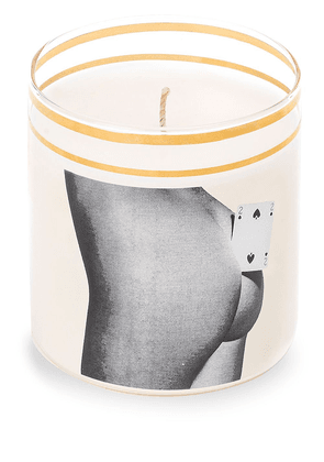 Seletti Two of Spades glass candle - White