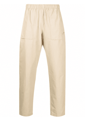 Nike Swoosh-embroidered trousers - Neutrals