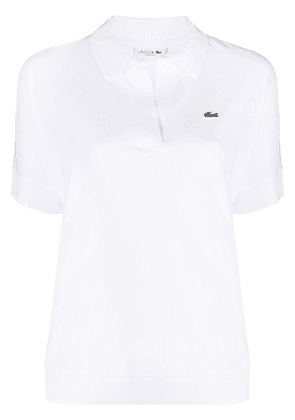 Lacoste logo embroidered polo shirt - White