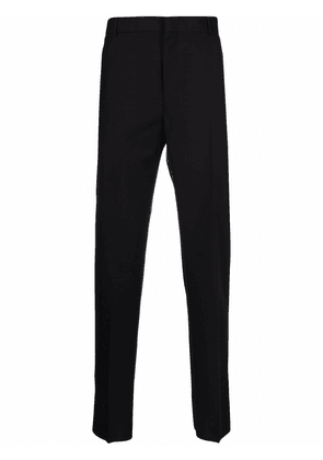 Alexander McQueen pressed-crease tailored trousers - Black