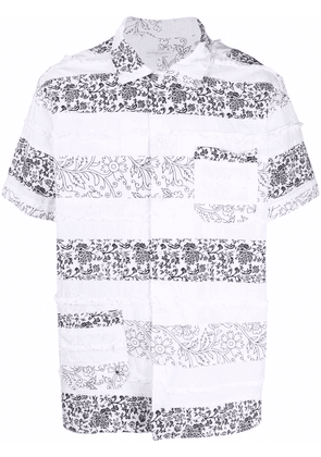 Engineered Garments floral patch-work short sleeve shirt - White