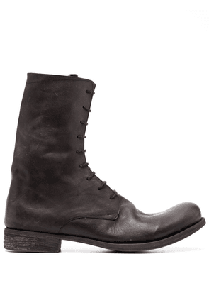 A Diciannoveventitre distressed-effect lace-up boots - Black