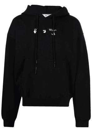 Off-White melted Arrow logo hoodie - Black