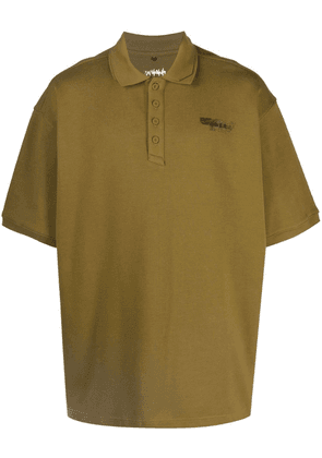 Ader Error Duct tape logo polo shirt - Green